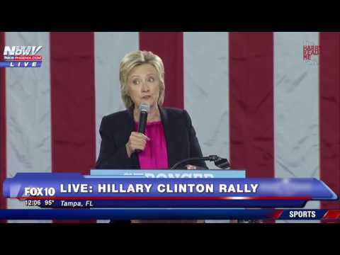 Sick  Hillary blames Trump and Climate Change for Hurricane