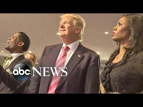 Trump Attends African American Church in Detroit