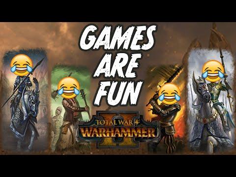 Games Are Fun - Empire vs High Elves // Total War: WARHAMMER II Multiplayer Battle |