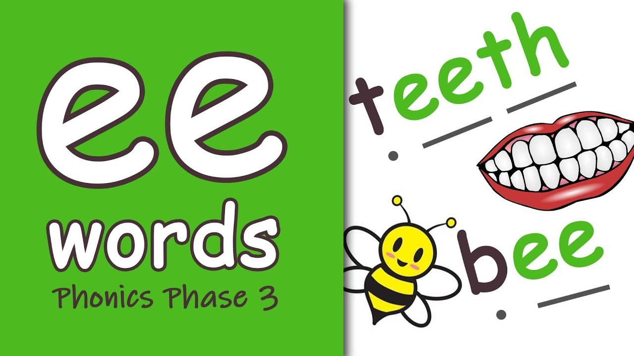 hight resolution of ee' Words   Blending Phonics Phase 3 - YouTube
