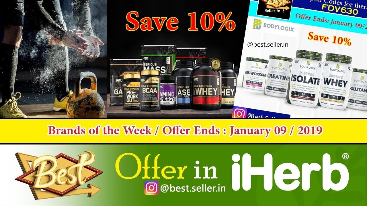 Brands of the Week in Iherb com /Offer Ends January 09/2019