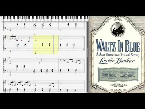 Waltz in Blue by Lester Banker (1927, Novelty piano)