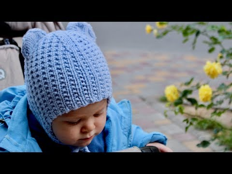 Шапка спицами для ребенка 1 год