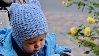 ХИТ! ПРОСТАЯ ДЕТСКАЯ ШАПКА МИШКА. УШКИ НА МАКУШКЕ. Вязаная ШАПКА спицами. HOW TO KNIT A BABY HAT