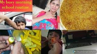 Indian mom busy morning school routine || Kids tiffin box snacks recipe || Weekdays morning routine