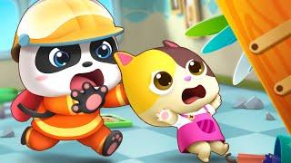 ★NEW★大地震來了!小貓咪一家有危險,快來救救他們 | 地震安全兒歌 | 童謠 | 動畫片 | 卡通片 | 寶寶巴士 | 奇奇 | 妙妙