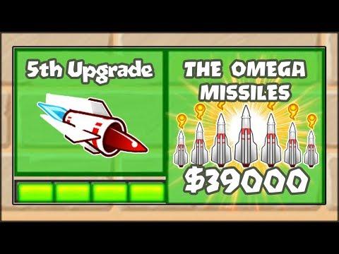 5TH TIER UPGRADES MOD - THE INSANE OMEGA AIRBURST MISSILE | Bloons TD Battles Hack/Mod (BTD Battles)
