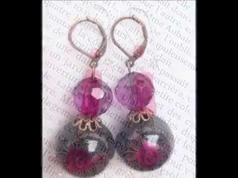 Bijoux de créateur,fantaisie,fait main en pâte polymère, perles en verre et pierres semi-précieuses