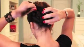 Прическа на сегодня быстро и просто своими руками, прическа на средние волосы пошагово(, 2013-09-24T18:41:16.000Z)