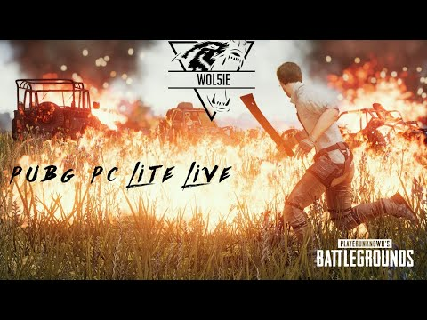 PUBG PC LITE LIVE WITH WOL5IE