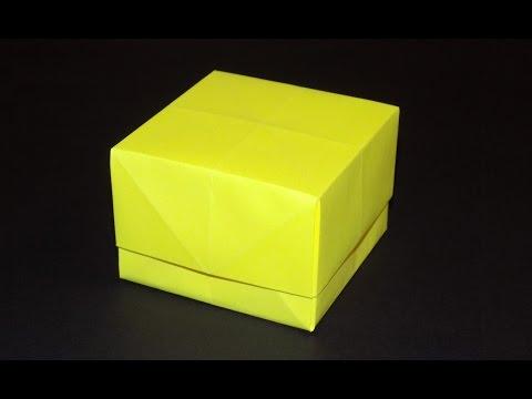 Видеоурок как сделать коробочку из бумаги