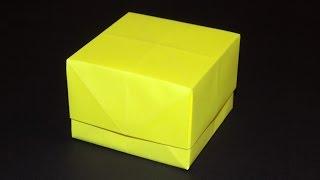 как сделать коробочку из бумаги своими руками с крышкой