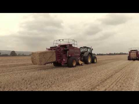 Baling straw with Hughes Bros. in Co Carlow