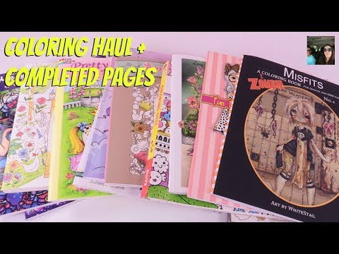 adult-coloring-book-haul-+-completed-pages-june-2017-|-paulandshannonslife