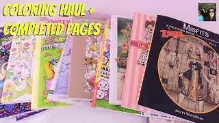 Adult Coloring Book Haul + Completed Pages June 2017   PaulAndShannonsLife