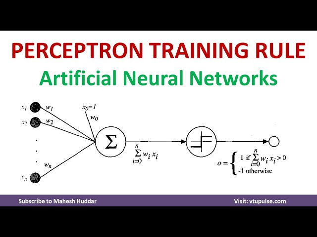 1.  Perceptron Training Rule for Linear Classification  Artificial Neural Networks  Machine Learning