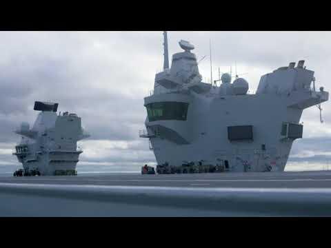 Carrier Queen Elizabeth, prep for first helo landing