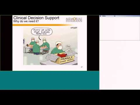 Memorial Hermann Health System: Clinical Decision Support