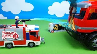 Мультики про машинки. Герои: пожарная машина, скорая помощь, полицейская машинка – развивающее видео