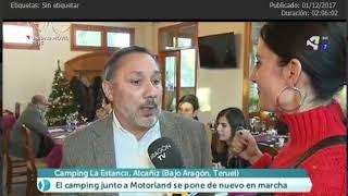 INDAVI Y EL CAMPING LA ESTANCA DE ALCAÑIZ EN ARAGÓN EN ABIERTO 01 12 17