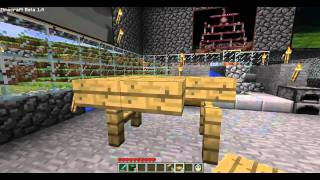 Minecraft How to make a Bed, Chair, Couch and Table.