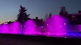 Поющие фонтаны на набережной. Имеретинка. Адлер