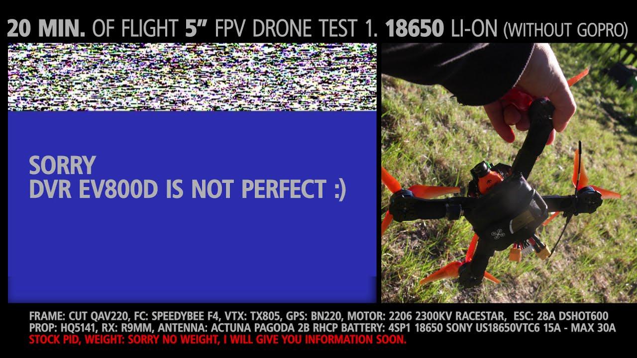 "20 minutes of flight 5"" fpv drone | 18650 li-lon 3100 mAh | without gopro фото"