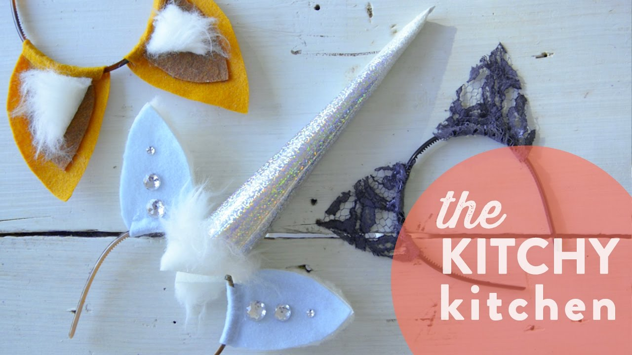 diy halloween headbands // the kitchy kitchen - youtube