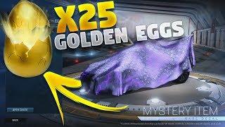 OPENING 25 GOLDEN EGGS ON ROCKET LEAGUE