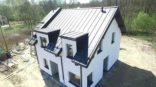 Blacha na podwójny rąbek stojący | Pokrycie dachowe na bliźniaku | Franc-Deker
