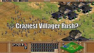 AoE2 - Craziest Villager Rush Ever?