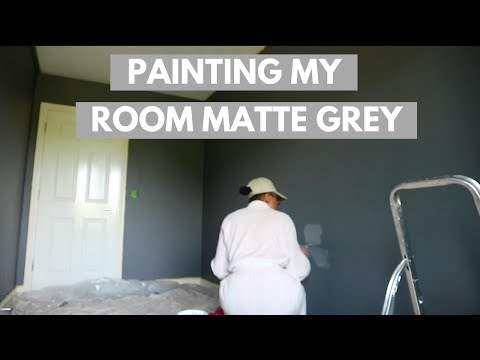 Painting My Room Matte Grey W/ Valsper Paint  Bedroom Makeover Pt 3 Bola Martins