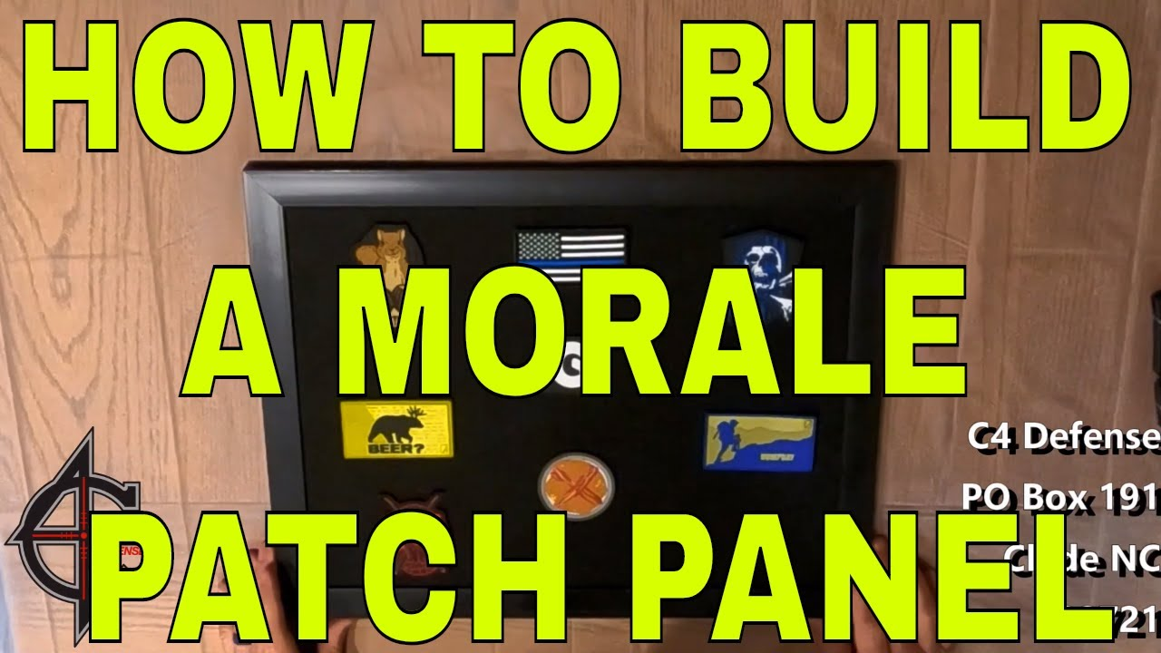 How to Build a Morale Patch Panel
