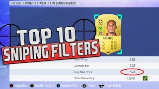 FIFA 19 TOP 10 SNIPING FILTERS | FIFA 19 ULTIMATE TEAM