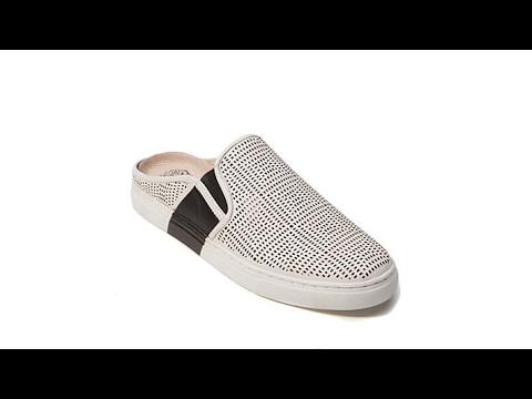 7ceccdabf07 Vince Camuto Bretta Leather Perforated Mule Sneaker - YouTube