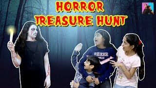 HORROR Treasure Hunt Story  l Bhoot l Funny Horror Short Film l Ayu And Anu Twin Sisters