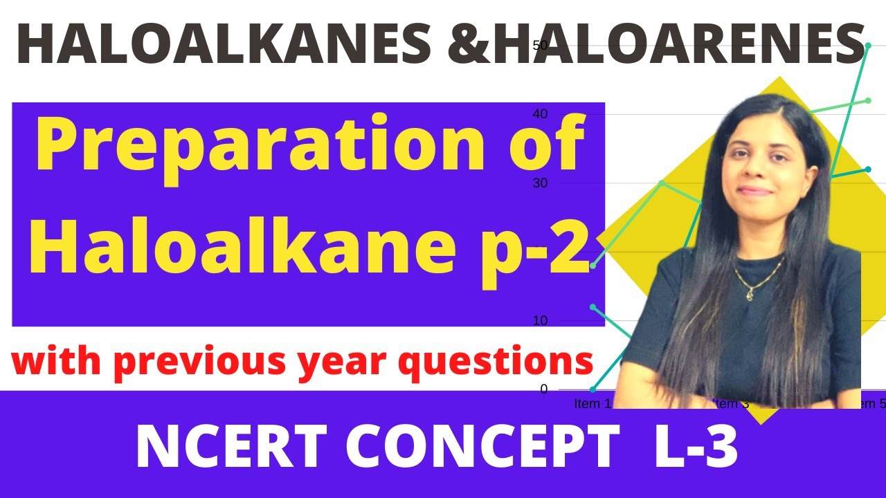 3. Preparation of haloalkane part 2 | Haloalkanes and haloarenes | class12thchemistry|by saloni mam|