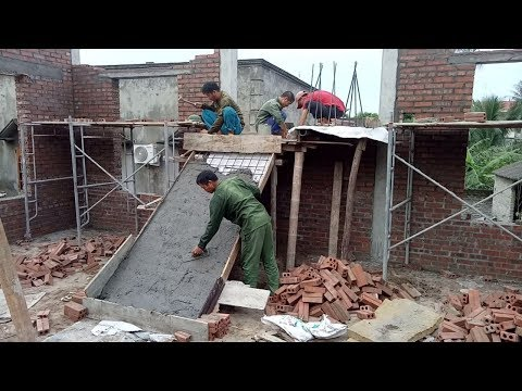 Primitive Construction Beams Stairs Concrete - Amazing Techniques Building Beams Stair Biggest House