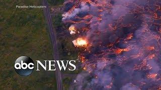 Lava flows cut off critical access point