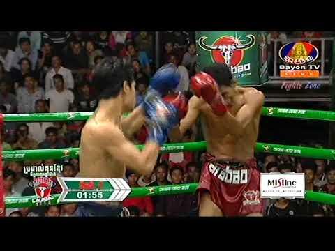 Kun Khmer, ចាន់ ប៊ុនហឿន Vs ថៃ, Chan Bunhoeurn  Vs Nut Kor Kesanon (Thai), Bayon boxing 18 Nov 2018