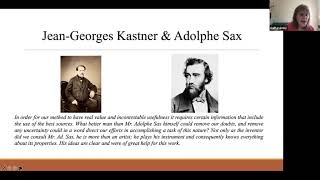 Gail Levinsky – Methods published for saxophone in 1846: Kastner, Cokken, & Hartmann