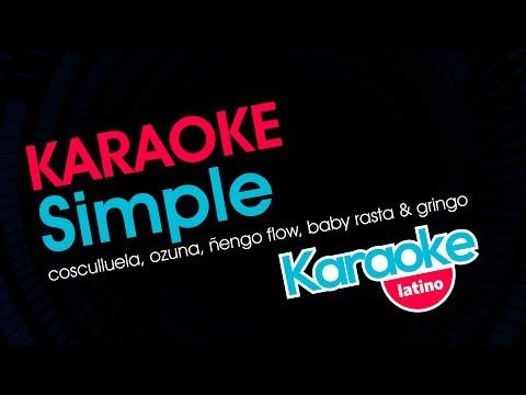 Ozuna, Cosculluela, Ñengo Flow, Baby Rasta & Gringo - Simple (Karaoke Latino)