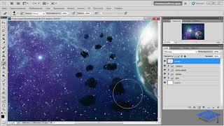 Рисуем в Фотошоп работу «На просторах Вселенной» - 3