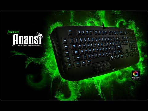 Product description. Designed and engineered especially for the mmo gamer, the razer anansi is the world's first keyboard that raises your level of gameplay by giving you the power to instantly use up to 7x more commands and abilities over the current? 12 ability keys you now have. Its seven thumb modifier keys located.