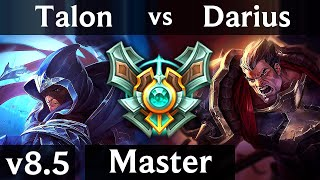 TALON vs DARIUS (TOP) /// EUW Master /// Patch 8.5