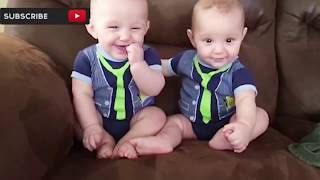Funny baby twines video - Funny baby video