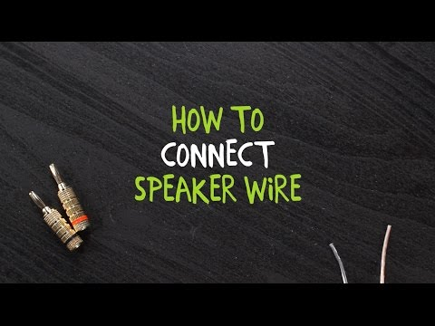 How to Connect Speaker Wire to a Binding Post