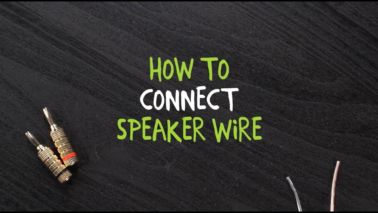 How to Connect Speaker Wire to a Binding Post - YouTube