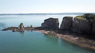 Cliffs of Cape Split - Aerial Views