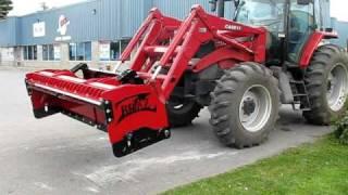 gratte a neige bucket pouce remorque excavation deneigement tracteur